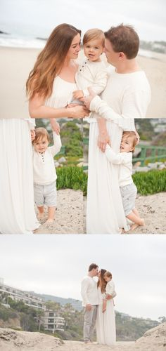 This was one of those sessions where I could literally blog every picture! We met up one early morning in Laguna Beach and they showed up in amazing outfits that were perfect for beach photos and of course adorable Mason!! I'm a sucker for pale earthy tones and the beach! Everything came together…