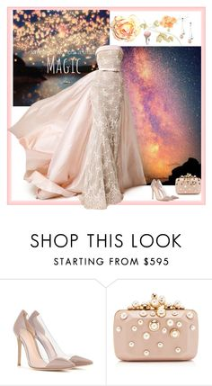 """""""A Little Magic"""" by ember-violet ❤ liked on Polyvore featuring Gianvito Rossi, Mikimoto, Elie Saab, romantic, formal, Elegant, gown and beoriginal"""