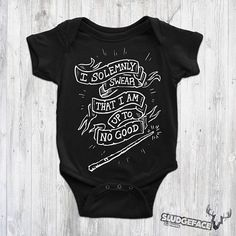 Harry Potter Inspired Solemnly Swear Baby Bodysuit Print /