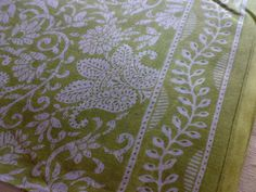 Paisley & Vines  Floral Block Print Indian Fabric Cotton by RaajMa