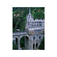 Santuario De Las Lajas Neo-Gothic Church, Las Lajas, Colombia... ($48) ❤ liked on Polyvore featuring home, home decor, wall art, artists-krzysztof dydynski, photographic wall art, photography poster, goth home decor, gothic home decor and photography wall art