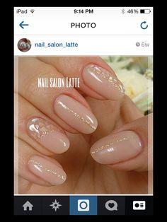 Elegant gel nail design