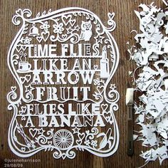 Time Flies Like an Arrow, Fruit Flies Like a Banana #typography