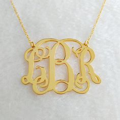 inch Personalized Initial Necklace,Gold Monogram Necklace,Nameplate Necklace,Letter N Initial Necklace Gold, Monogram Jewelry, Nameplate Necklace, Letter Necklace, Personalized Necklace, Necklace Designs, Gift, Southern Marsh, Southern Tide