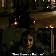 In The Dark Knight Joker says Now theres a Batman. This is because Batman pops into frame. Chris Nolan, Christopher Nolan, The Dark Knight Trilogy, Personal Identity, Film Director, 21st Century, Filmmaking, The Darkest, Joker