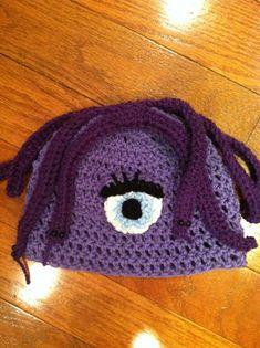 Celia Hat Monsters Inc Crochet Beanie Skullcap-cute photo prop costume idea-all sizes newborn through adult