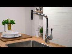 OUR CHOICE FOR BELFAST SINK Hansgrohe Metris kitchen mixer pull-out spray