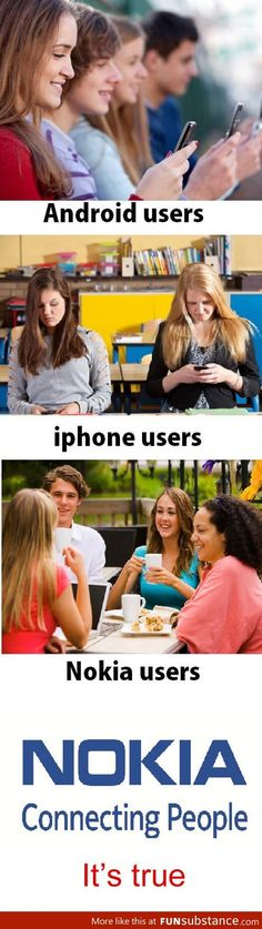 Nokia's slogan is correct