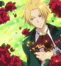 Usui (kaichou wa maid sama) - it's so weird to see him in color, after reading the whole manga in black and white