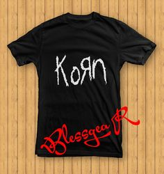 Korn Logo T Shirt for men and women size S3XL by BlessgeaR on Etsy, $16.98