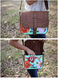 DIY: Painted leather bag