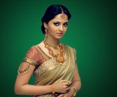 Anushka Shetty in saree Indian actress