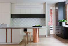 Residential design finalists in the 2014 Australian Interior Design Awards. Australian Interior Design, Interior Design Awards, Residential Interior Design, Old Kitchen, Kitchen Dining, Kitchen Island, Kitchen Ideas, Copper Kitchen, Dining Decor