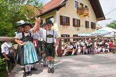 Kinder tanzen beim 3. Weißbierfest in Ramsau, Teisendorf