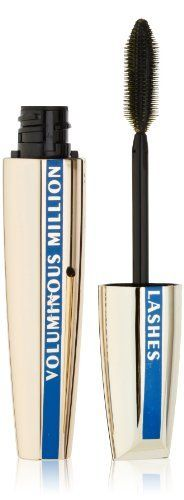 L'Oreal Paris Voluminous Million Lashes Waterproof Mascara, Blackest Black, 0.29 Ounces:Amazon:Beauty