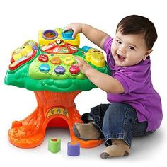 Kids Learning Activity Table Toddler Tree Teach Music Number Animals Fruits Book #VTech