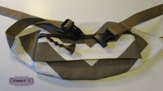 Fanny Pack Wide Chevron Brown and White by ClemmieVs on Etsy