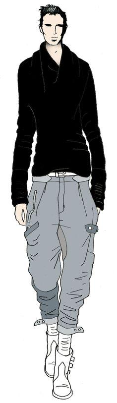 JAA design original fashion illustration. http://croquisdemodes.tumblr.com/