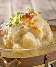 Kuorrutettu kukkakaali | Maku Camembert Cheese, Mashed Potatoes, Food And Drink, Ethnic Recipes, Whipped Potatoes, Smash Potatoes