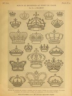 Album de broderies au point de croix 1890 - found via Archive.org - texts