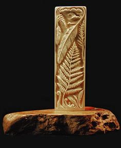 'Fern and Feather', mammoth ivory, by Terri Talas