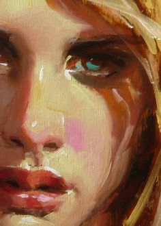 """Sunshine"" (close-up of female), John Larriva art"