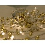 Fairy Lights 1.8 Metre Gold Beaded Garland Battery Operated, Christmas Lights, Party Lights