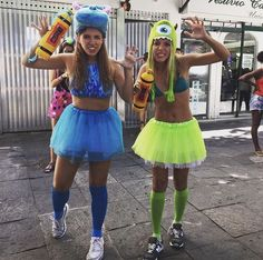 Sully e Mike Partner Costumes, Best Friend Halloween Costumes, Scary Costumes, Group Costumes, Halloween Kostüm, Halloween Cosplay, Halloween Outfits, Monster Inc Costumes, Halloween Kleidung