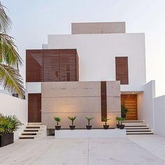 the beachfront residence by enrique cabrera arquitecto located in chicxulub, mexico. more #architecture in mexico on #designboom! #beachfront #residential #fachadasminimalistasblancas