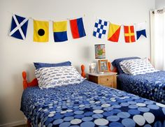 High res nautical flags bedroom