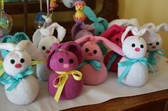 make a bunch of sock bunnies to deliver anonymously to neighbor kids next year.