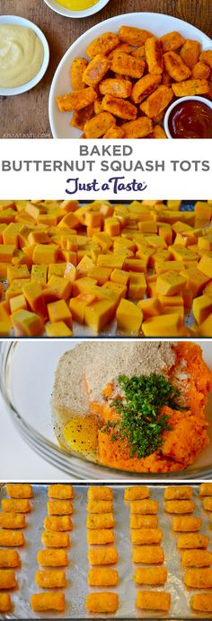 Baked Butternut Squash Tots recipe from justataste.com #recipe #healthy #fall