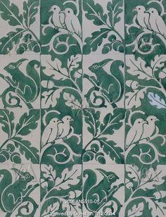 Textile design, by C.F.A.Voysey. England, 1923