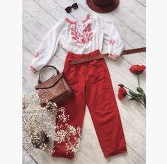 Red Trousers, Pants, Handmade, Shirts, Fashion, Trouser Pants, Moda, Hand Made, Fashion Styles