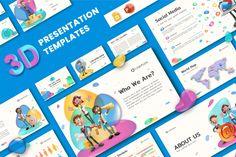 Ultimate 3D Presentation Template   GraphicMama 3d Presentation, Corporate Presentation, Presentation Templates, Great Presentations, Free Web Fonts, Online Lessons, Design Bundles, Infographic, Product Launch
