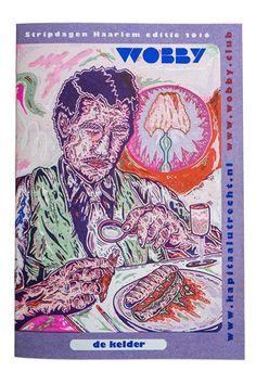Wobby Stripdagen Haarlem issue, Risograph printed magazine, artwork by Bobbi Oskam.