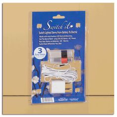 Switch It Adaptor - Run battery LED stems & branches on Electric - Switch Back any Time.  $16.49 Available at Oddity Store