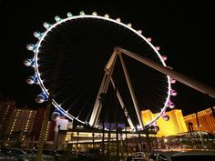 The High Roller observation wheel is the focal point of the LINQ, an open-air shopping, dining and entertainment distric on the Las Vegas St...