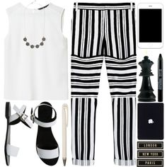 #257 Black & White by berina-2000 on Polyvore featuring Zara, TIBI, Sol Sana and Spicher and Company