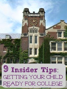 Awesome tips & secrets for getting your child ready for college! A 12hrAdventure that walks you through a day of college prep! AD