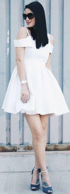 #summer #popular #outfitideas White Mini Dress