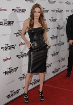 The actress joined Brad Pitt at his 2009 LA premiere of Inglourious   Look Back at Angelina Jolie's Sexiest, Most Scintillating Pictures Through the Years   POPSUGAR Celebrity