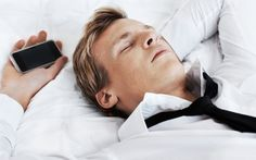 Using a smartphone, laptop or TV right before bed makes it harder to get a full night's rest. Put the phone down