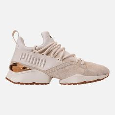 fd174bf98 Right view of Women s Puma Muse Maia Varsity Casual Shoes in Whisper  White Metallic Bronze
