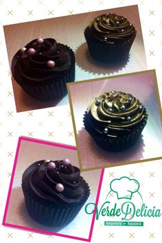 Sólo chocolate!! Bizcocho relleno de ganache de chocolate negro y buttercream de chocolate