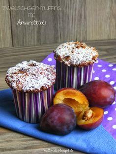 Zwetschgen-Muffins mit Amarettinis zum herbstlichen Wochenende