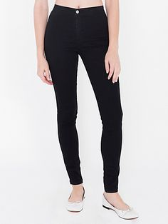 American Apparel Easy Jean. This slim, high-waist jean constructed from soft, stretch denim molds to the shape of your body for a super flattering fit.