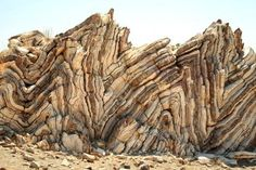 ♥♥♥ 20 Cool Rocks and Rock Formations: Rock Formations at Agia Pavlos reveal incredible striations. Cool Rocks, Rock Formations, Natural Phenomena, Science And Nature, Earth Science, Nature Nature, Rocks And Minerals, Crystals Minerals, Natural Wonders