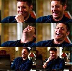 I LOVE how Jensen laughs