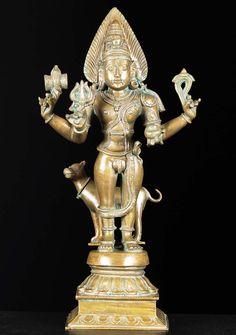 """View the Bronze Bhairava Statue 18"""""""